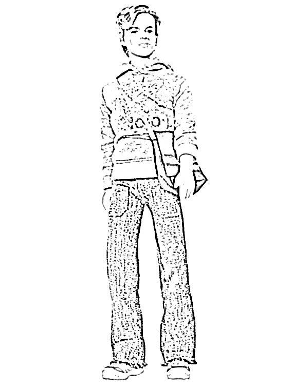 Coloriage ken fashion fever sweat ccapuche univers - Barbie a dessiner ...