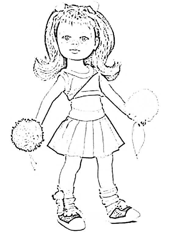 Coloriage cristi pom pom girl univers - Mannequin coloriage ...