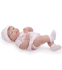 poupee Bébé newborn fille blonde tenue rose