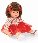 poupee Maxy muffin cheveux chatains robe rouge