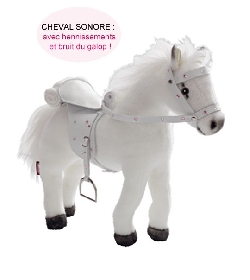 cheval blanc gotz pour poup e univers poup es la boutique des poup es et des poupons. Black Bedroom Furniture Sets. Home Design Ideas