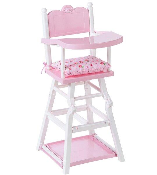 chaise haute fleurs univers poup es la boutique des. Black Bedroom Furniture Sets. Home Design Ideas