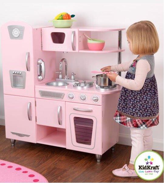 cuisine r tro rose univers poup es la boutique des poup es et des poupons. Black Bedroom Furniture Sets. Home Design Ideas