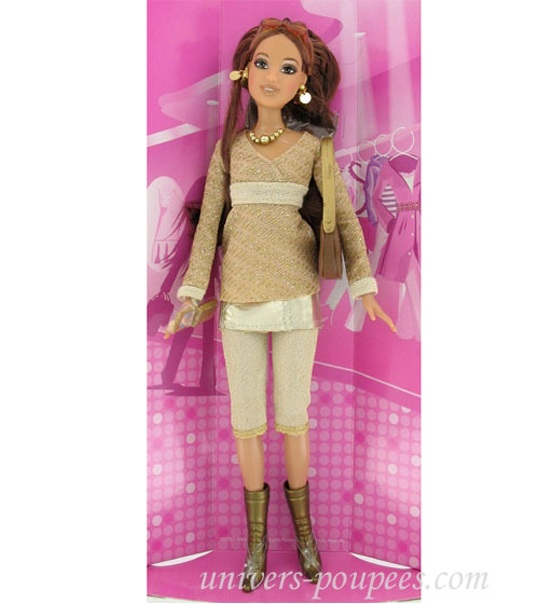 Impression De L 39 Article Poup E Barbie Fashion Fever Brune Tenue Dor E Univers Poup Es La