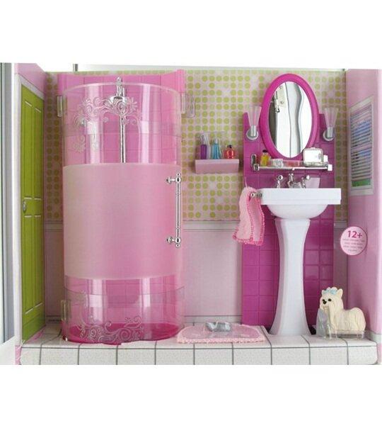 Impression de l 39 article barbie kit mobilier douche et for Coiffeuse salle de bain