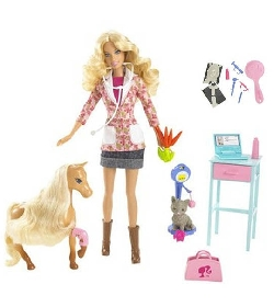 Coffret barbie v t rinaire univers poup es la boutique - Barbie veterinaire ...