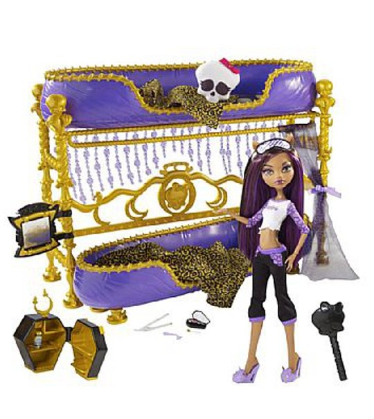 impression de l 39 article lit et poup e clawdeen monster high univers poup es la boutique des. Black Bedroom Furniture Sets. Home Design Ideas