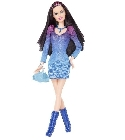 poupee Poup�e Barbie Fashionistas robe bleue