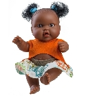 poupee Hebe mini fille africaine tenue orange 21...