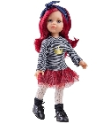 poupee Dasha cheveux rouges 32cm