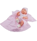 poupee Minipikolin 32cm couverture rose