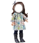 poupee Habit Emily 42cm robe chat