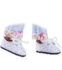 poupee Chaussures blanches lacets Amigas