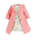 Habit Belleville manteau rose 40cm poupee