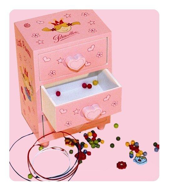 commode et set de perles en bois petitcollin univers poup es la boutique des poup es et des. Black Bedroom Furniture Sets. Home Design Ideas