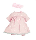 Habillage calin Célia 28cm robe rose poupee