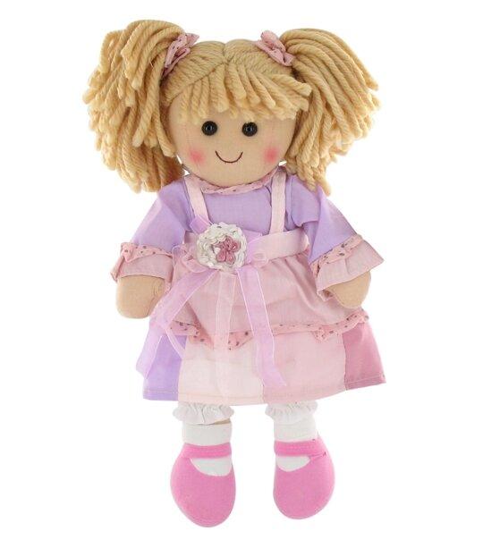 Impression de l 39 article poup e chiffon blonde robe rose for L univers de la laine